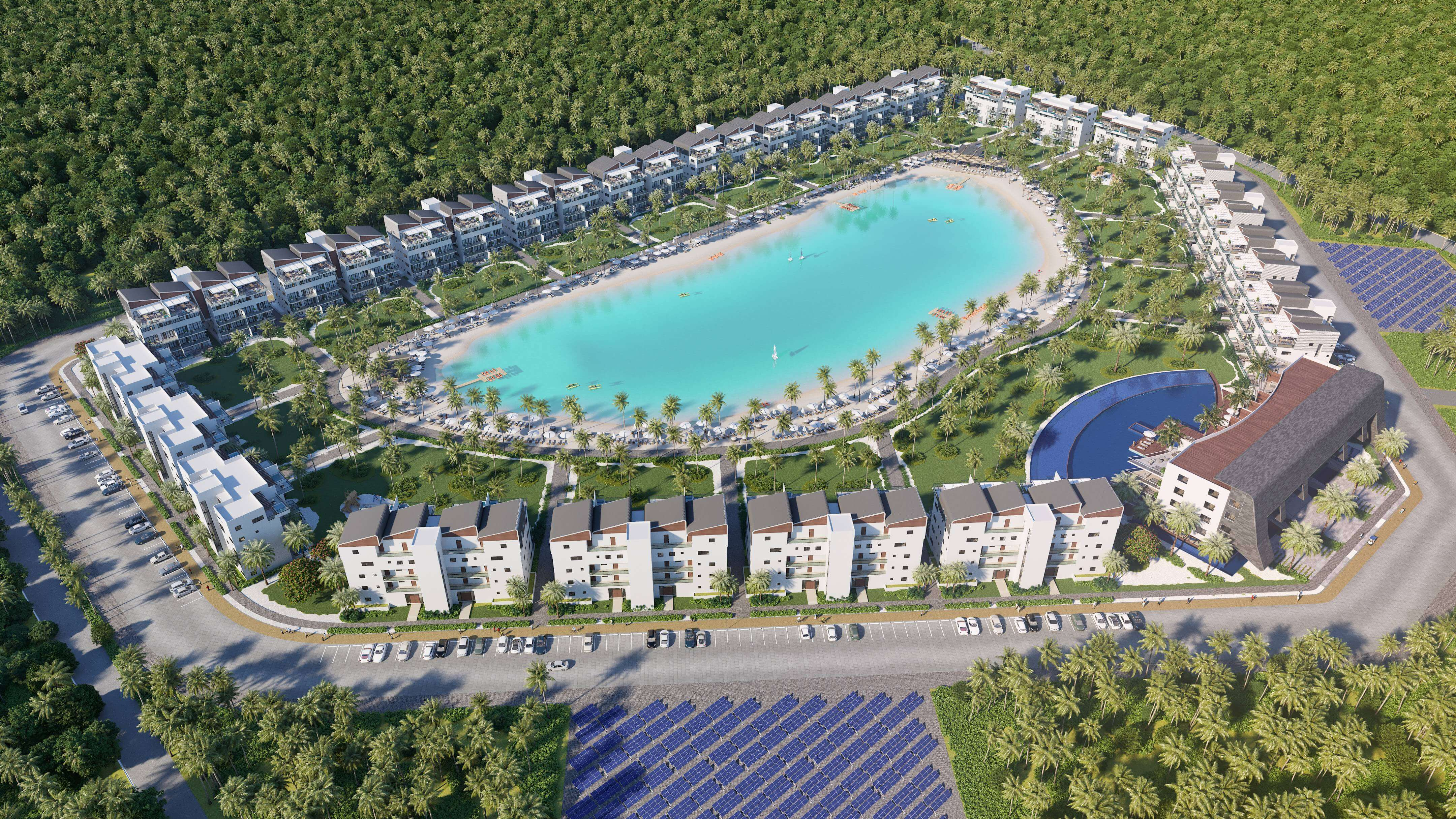 Luxurious 1-4 BR  Apartments With Private Beach Crystal-Lagoon